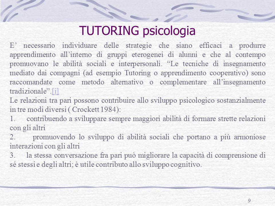 TUTORING psicologia