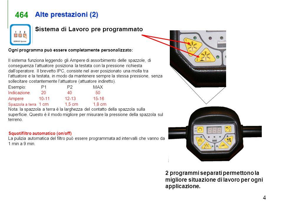 464 Alte prestazioni (2) Sistema di Lavoro pre programmato