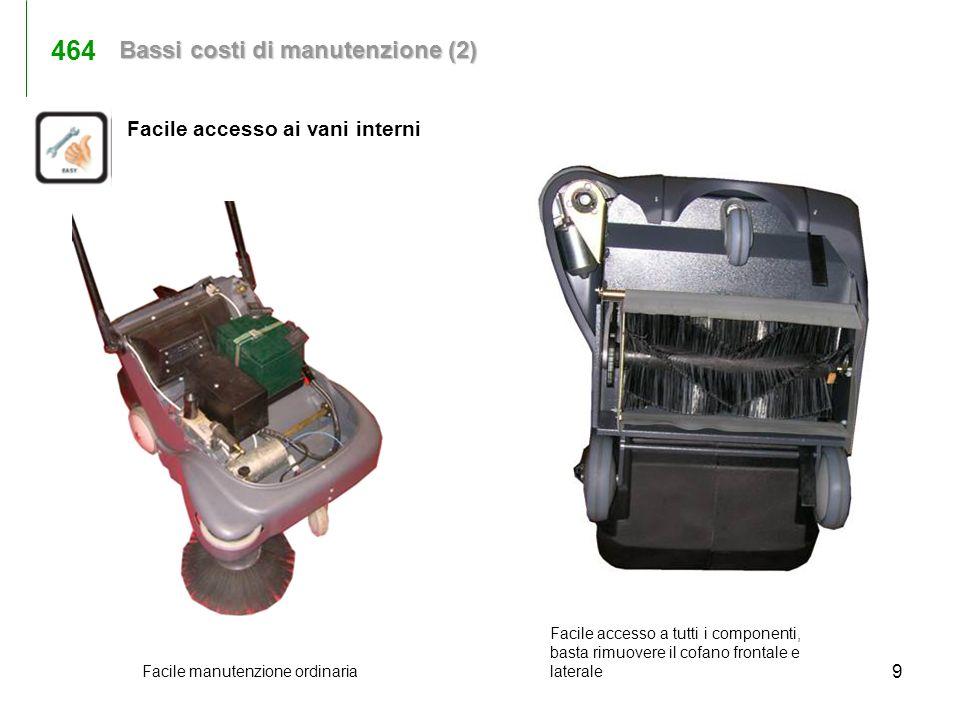 464 Bassi costi di manutenzione (2) Facile accesso ai vani interni