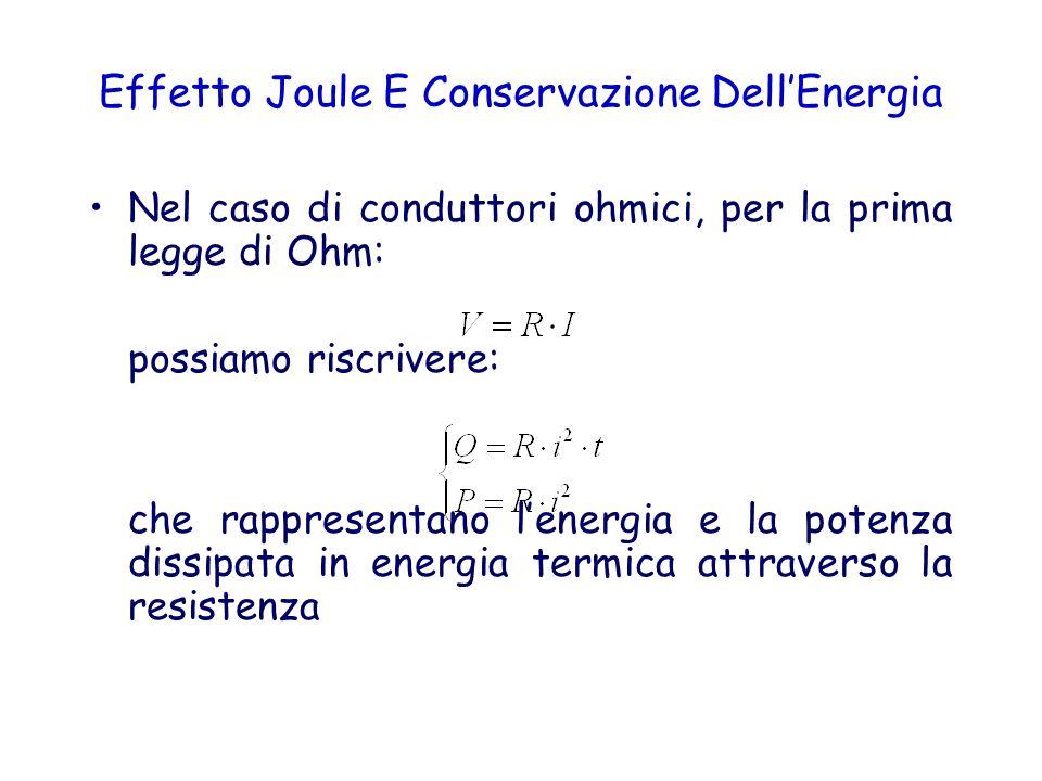 Effetto Joule E Conservazione Dell'Energia