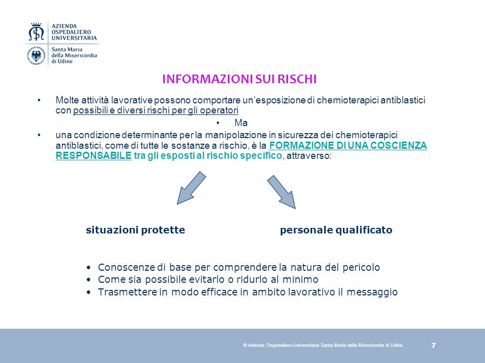 INFORMAZIONI SUI RISCHI
