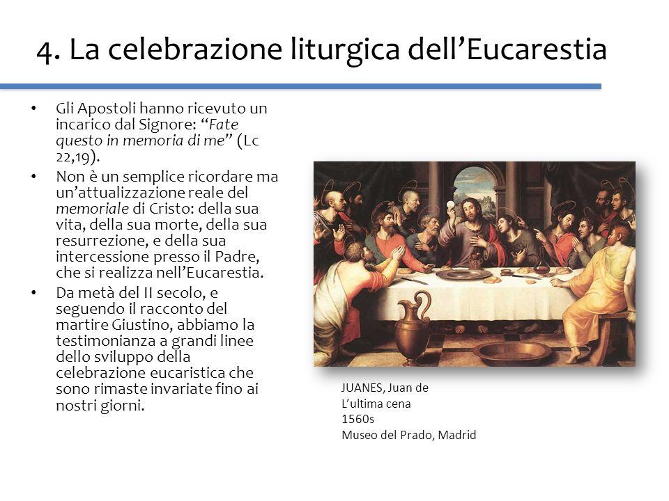 4. La celebrazione liturgica dell'Eucarestia