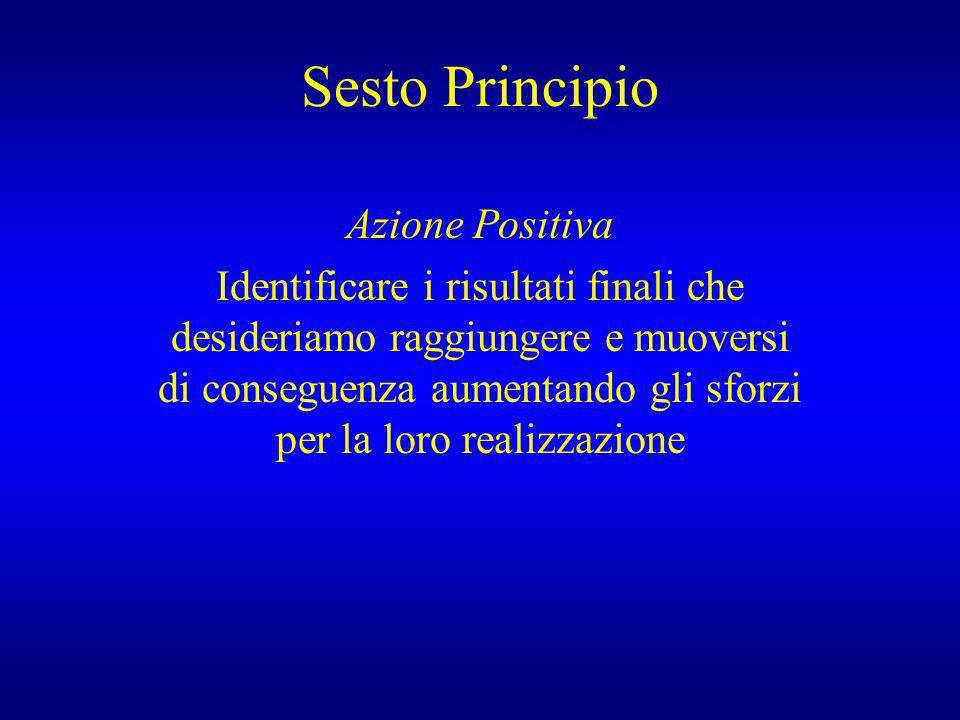 Sesto Principio Azione Positiva