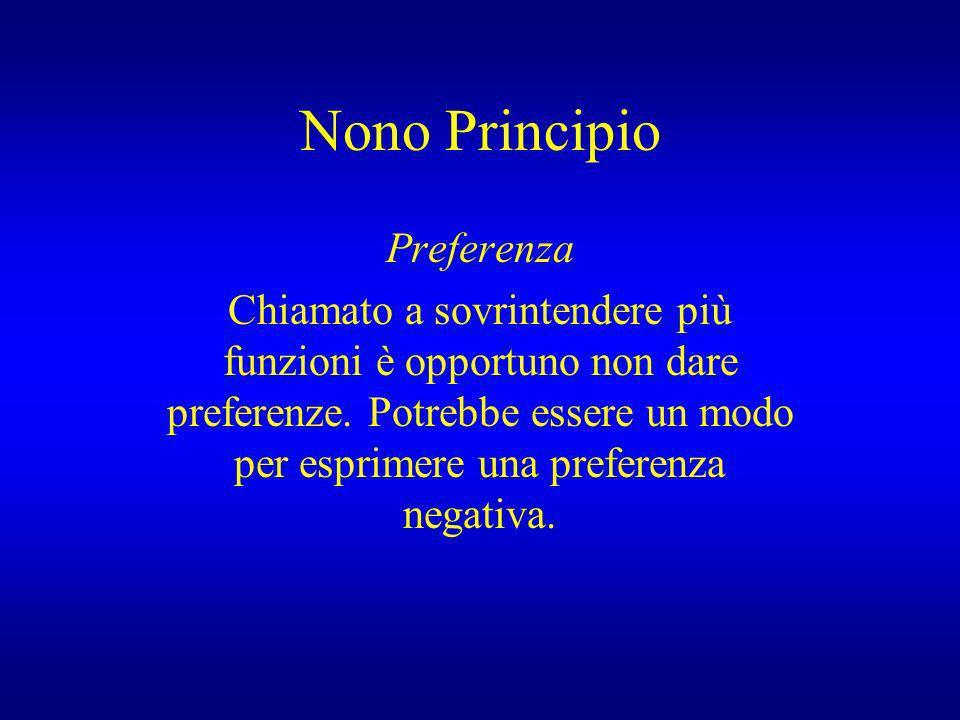 Nono Principio Preferenza