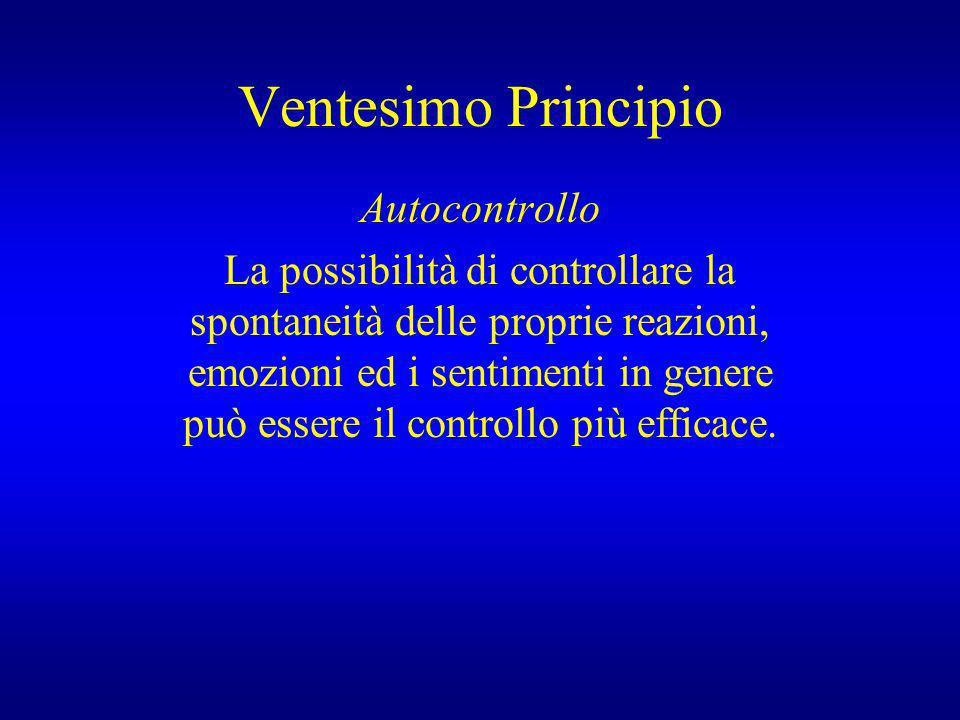 Ventesimo Principio Autocontrollo