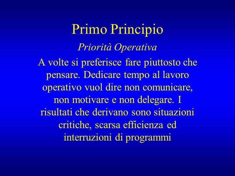 Primo Principio Priorità Operativa