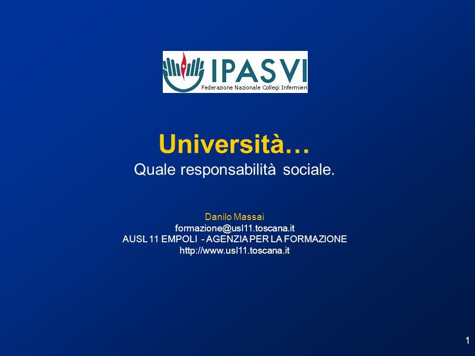 Università… Quale responsabilità sociale. Danilo Massai