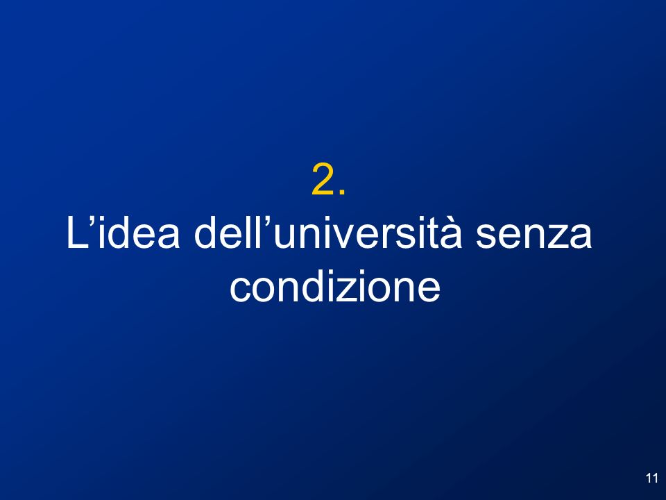 L'idea dell'università senza