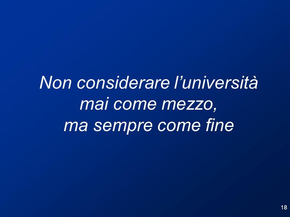 Non considerare l'università