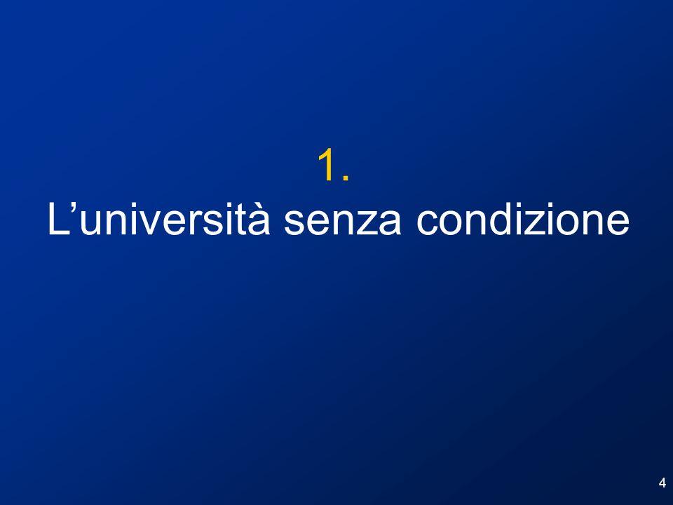 L'università senza condizione