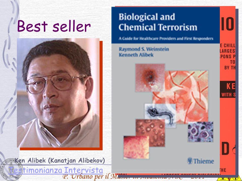 Best seller Ken Alibek (Kanatjan Alibekov) Testimonianza Intervista