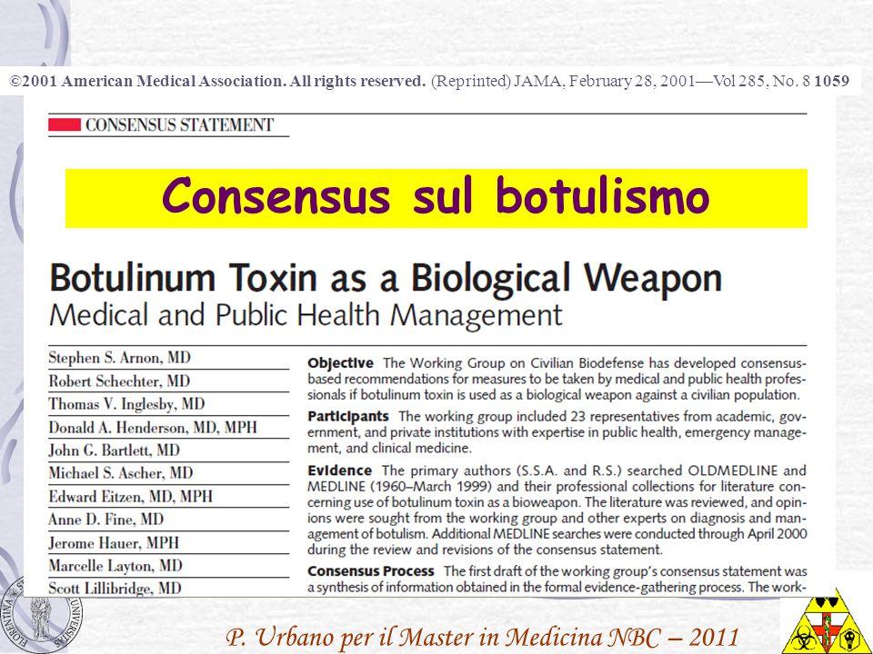 Consensus sul botulismo