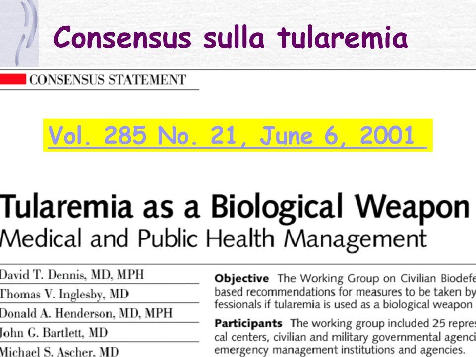Consensus sulla tularemia