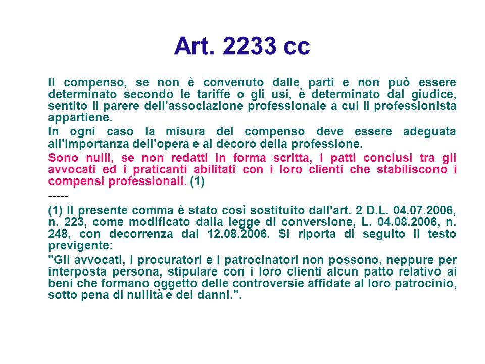 Art. 2233 cc