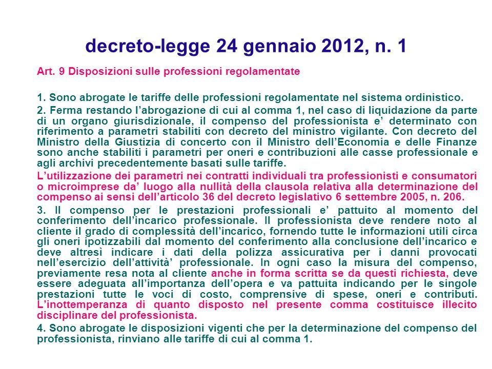 decreto-legge 24 gennaio 2012, n. 1