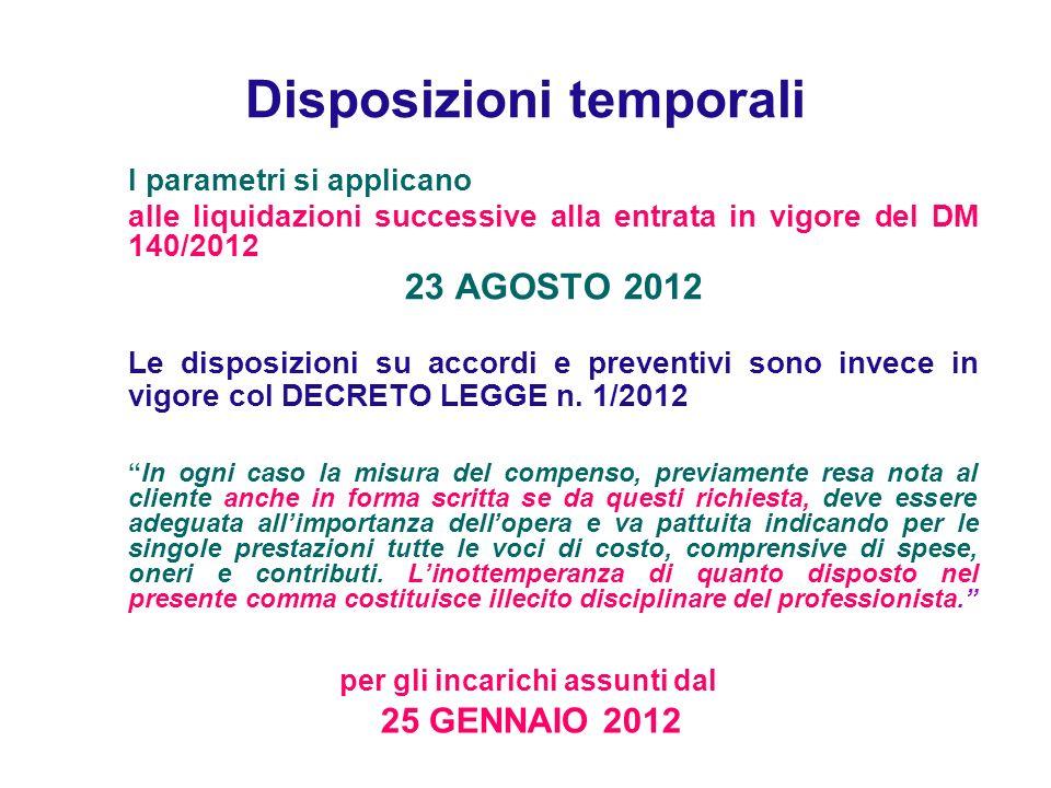 Disposizioni temporali