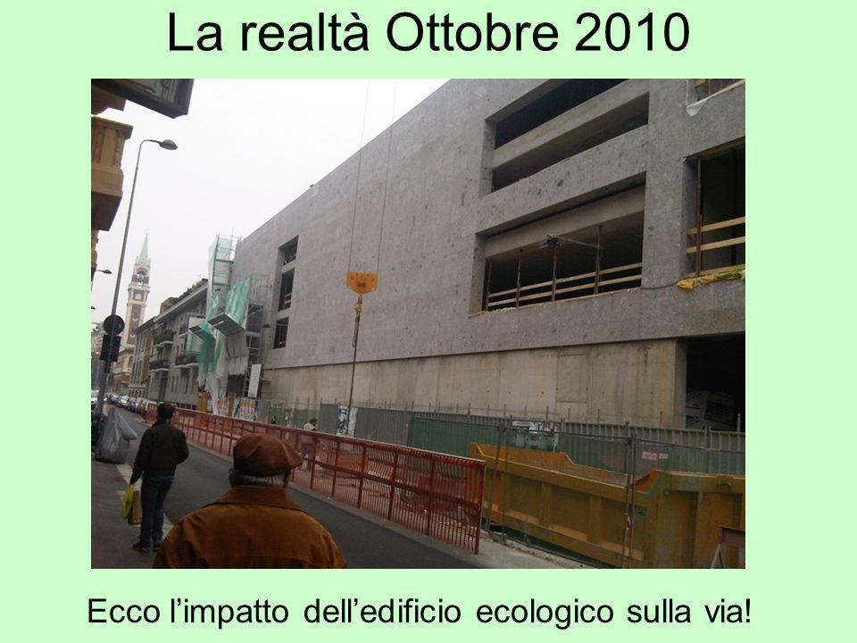 La realtà Ottobre 2010 Ecco l'impatto dell'edificio ecologico sulla via!