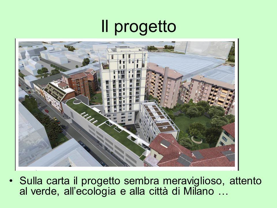 Il progetto Sulla carta il progetto sembra meraviglioso, attento al verde, all'ecologia e alla città di Milano …