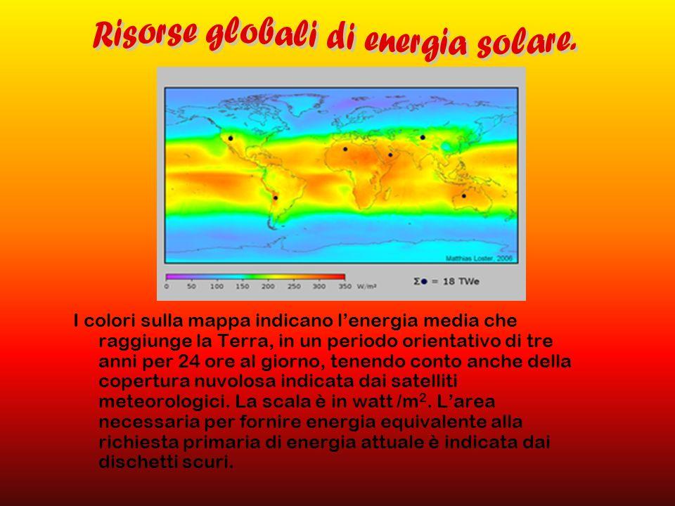 Risorse globali di energia solare.