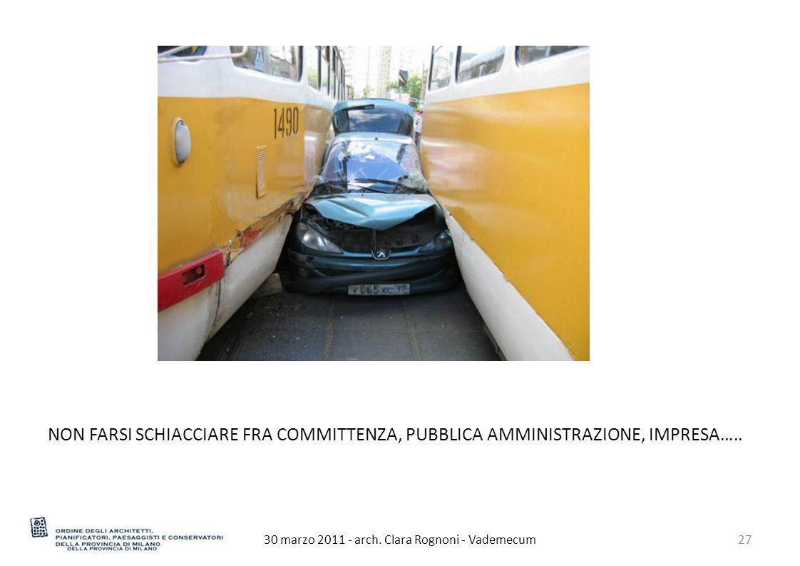 30 marzo 2011 - arch. Clara Rognoni - Vademecum