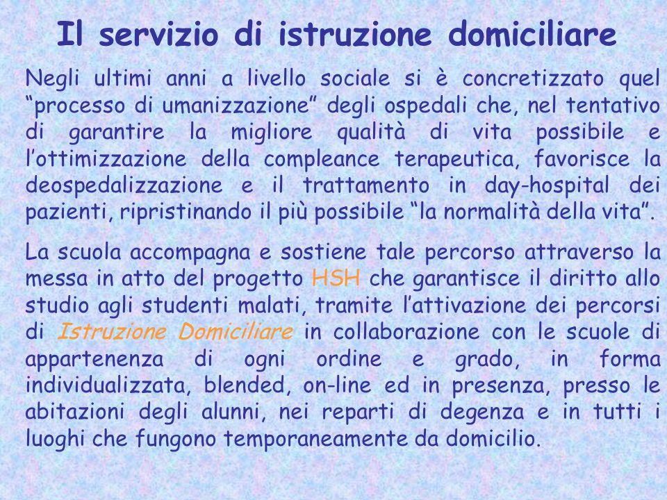 Il servizio di istruzione domiciliare