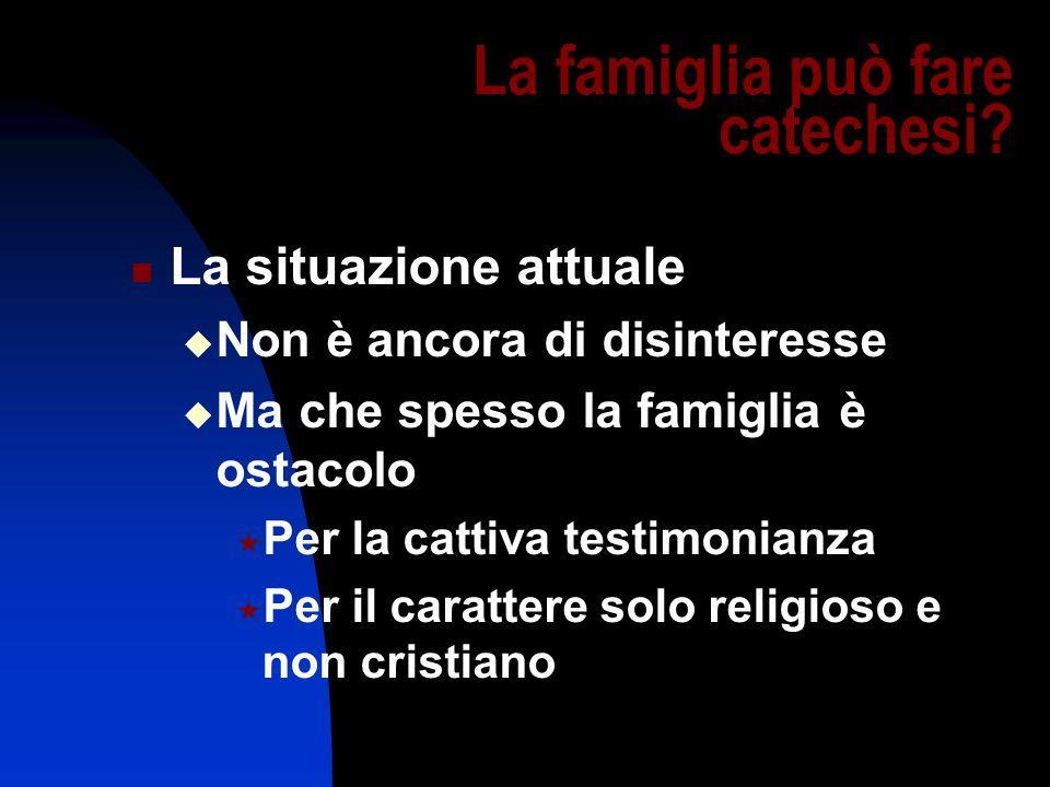 La famiglia può fare catechesi
