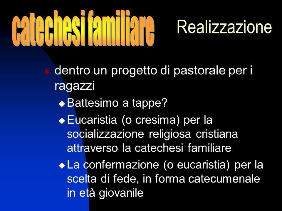 Realizzazione catechesi familiare
