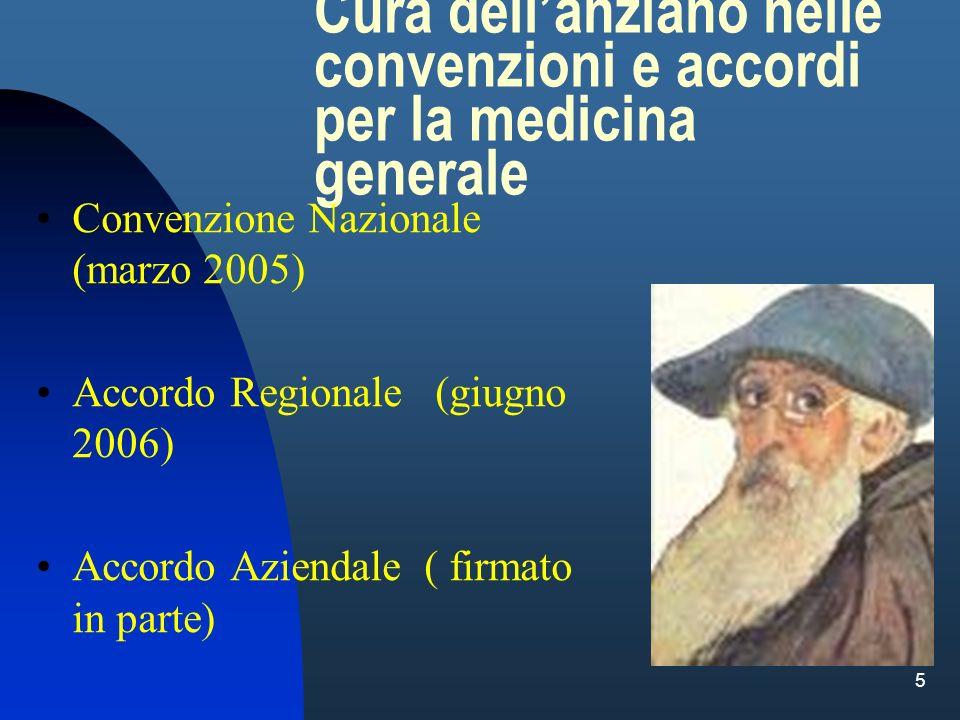 Cura dell'anziano nelle convenzioni e accordi per la medicina generale