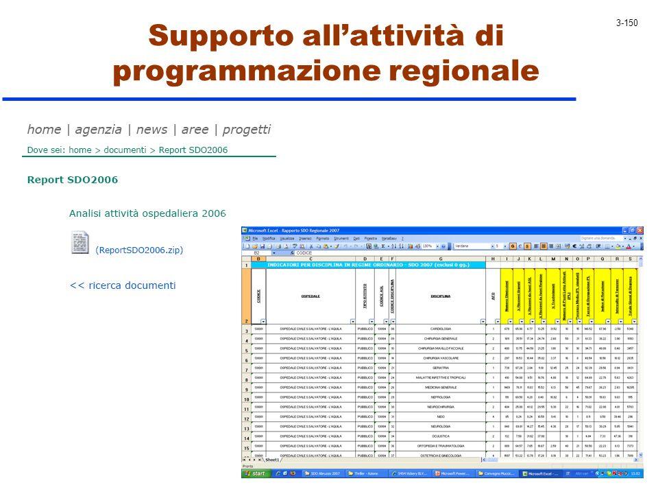 Supporto all'attività di programmazione regionale