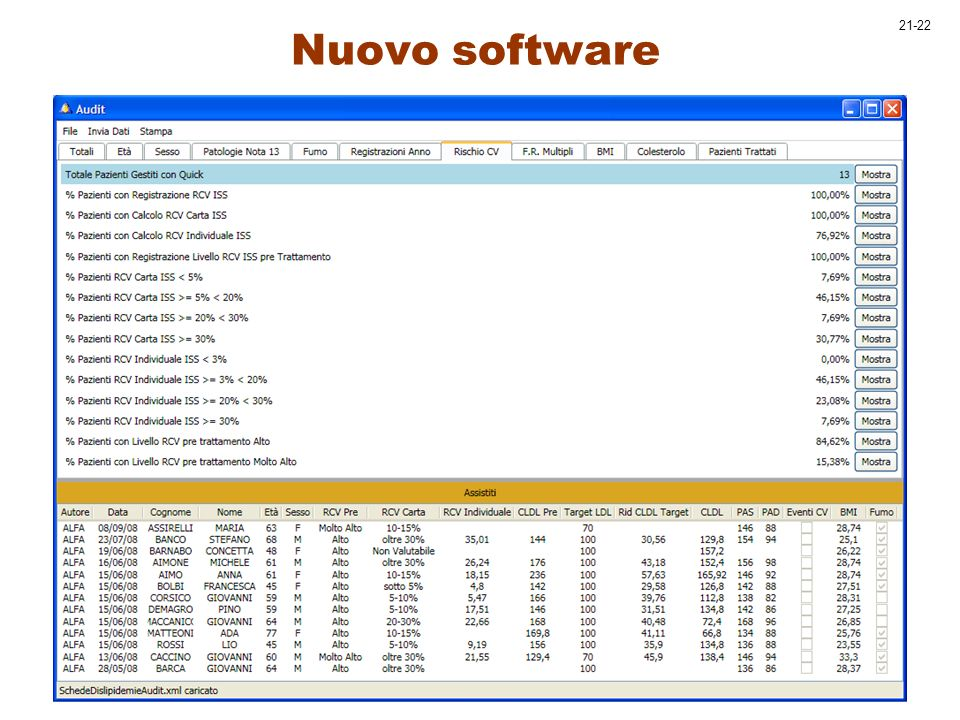 21-22 Nuovo software