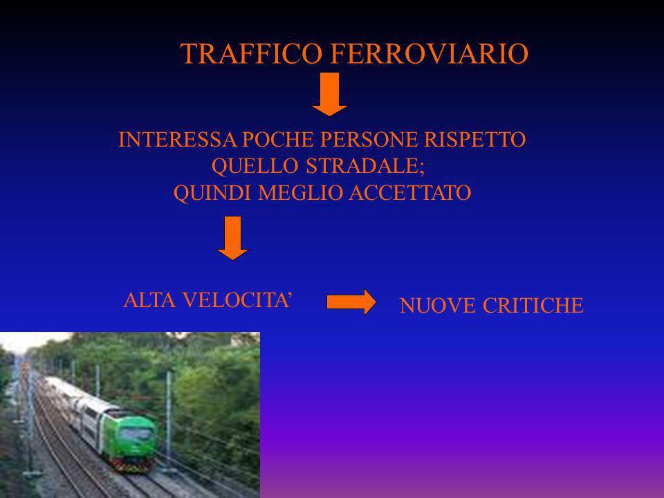 TRAFFICO FERROVIARIO INTERESSA POCHE PERSONE RISPETTO QUELLO STRADALE;