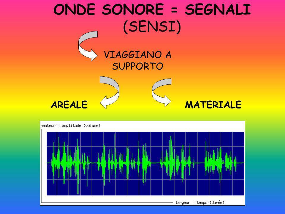 ONDE SONORE = SEGNALI (SENSI)