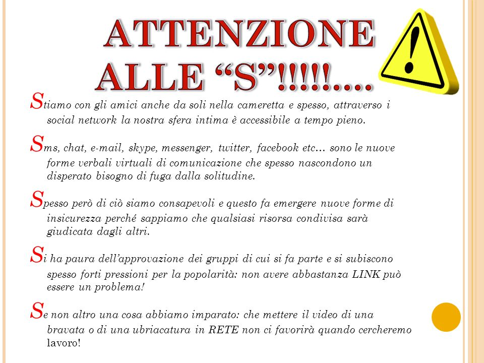 ATTENZIONE ALLE S !!!!!....
