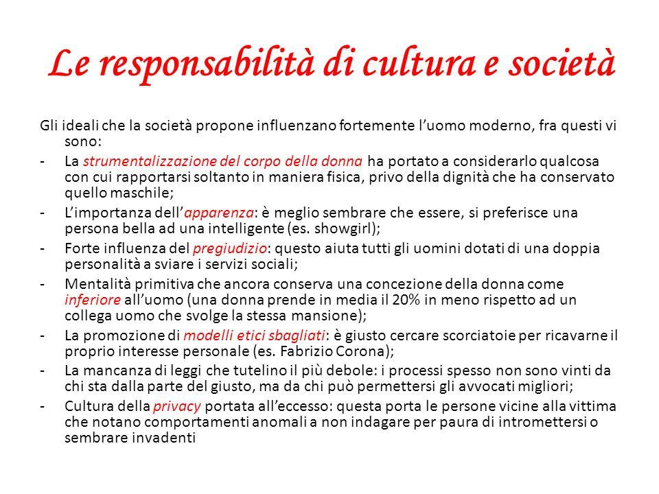 Le responsabilità di cultura e società