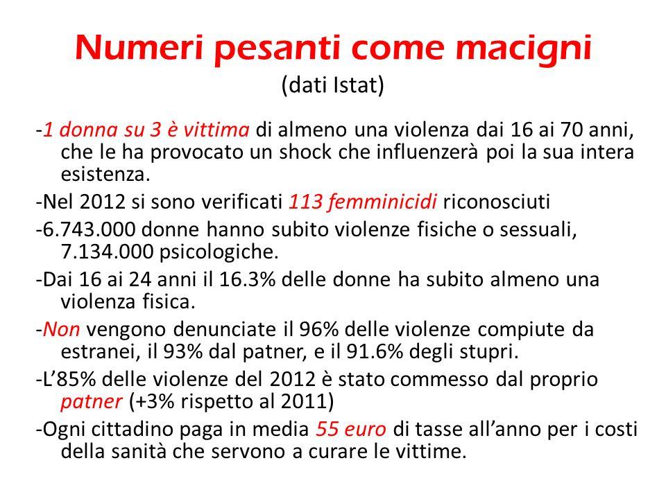 Numeri pesanti come macigni (dati Istat)