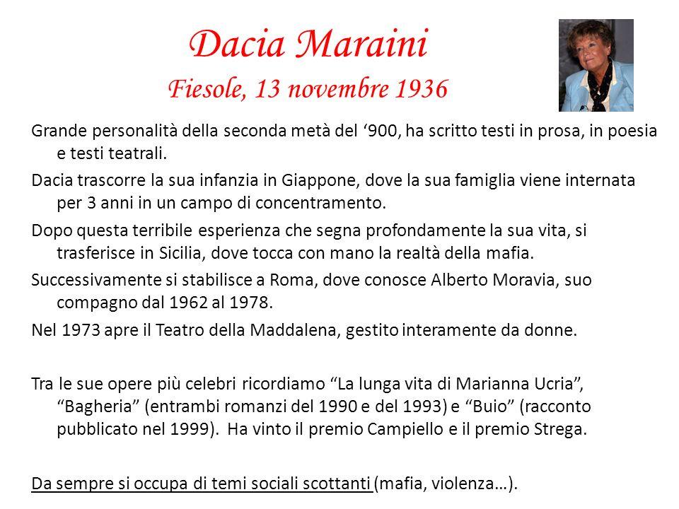 Dacia Maraini Fiesole, 13 novembre 1936