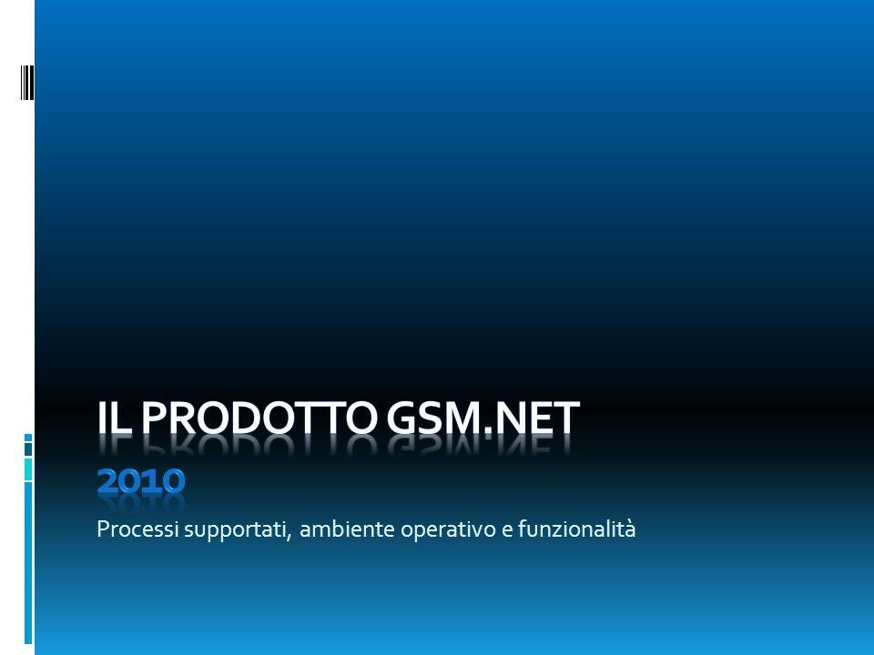 Il prodotto Gsm.NET 2010 Processi supportati, ambiente operativo e funzionalità