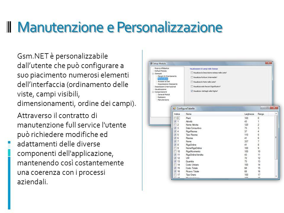 Manutenzione e Personalizzazione