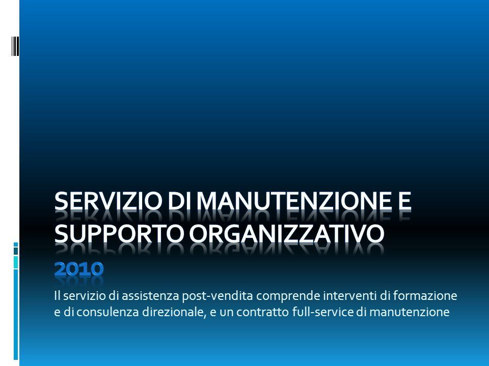 Servizio di manutenzione e supporto organizzativo 2010