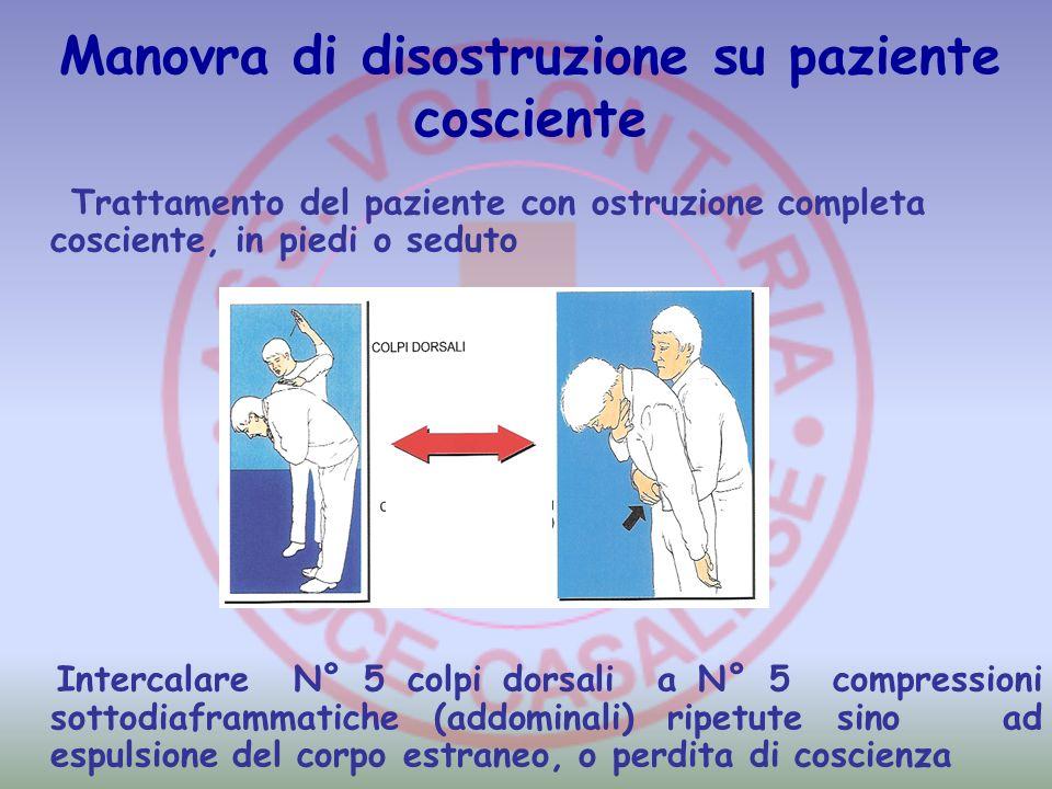 Manovra di disostruzione su paziente cosciente