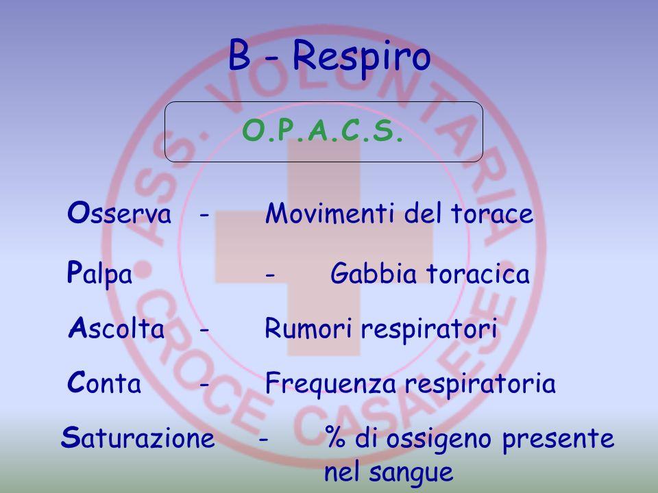 B - Respiro O.P.A.C.S. Osserva - Movimenti del torace