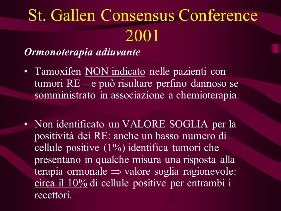 St. Gallen Consensus Conference 2001