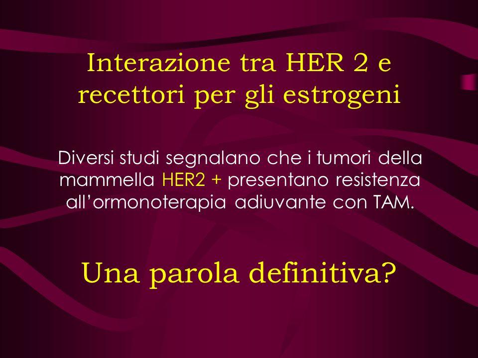 Interazione tra HER 2 e recettori per gli estrogeni