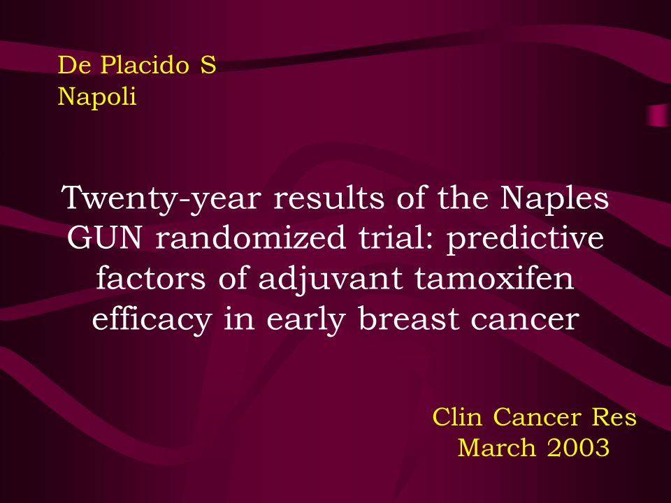 Twenty-year results of the Naples GUN randomized trial