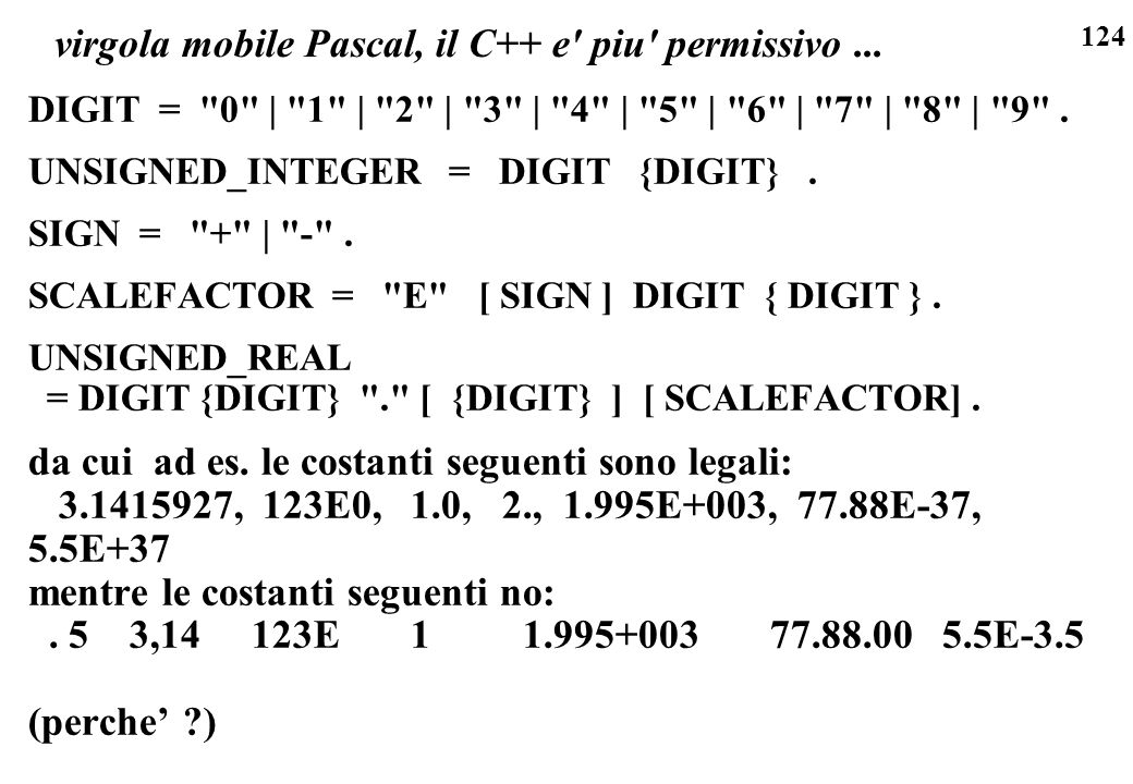 virgola mobile Pascal, il C++ e piu permissivo ...
