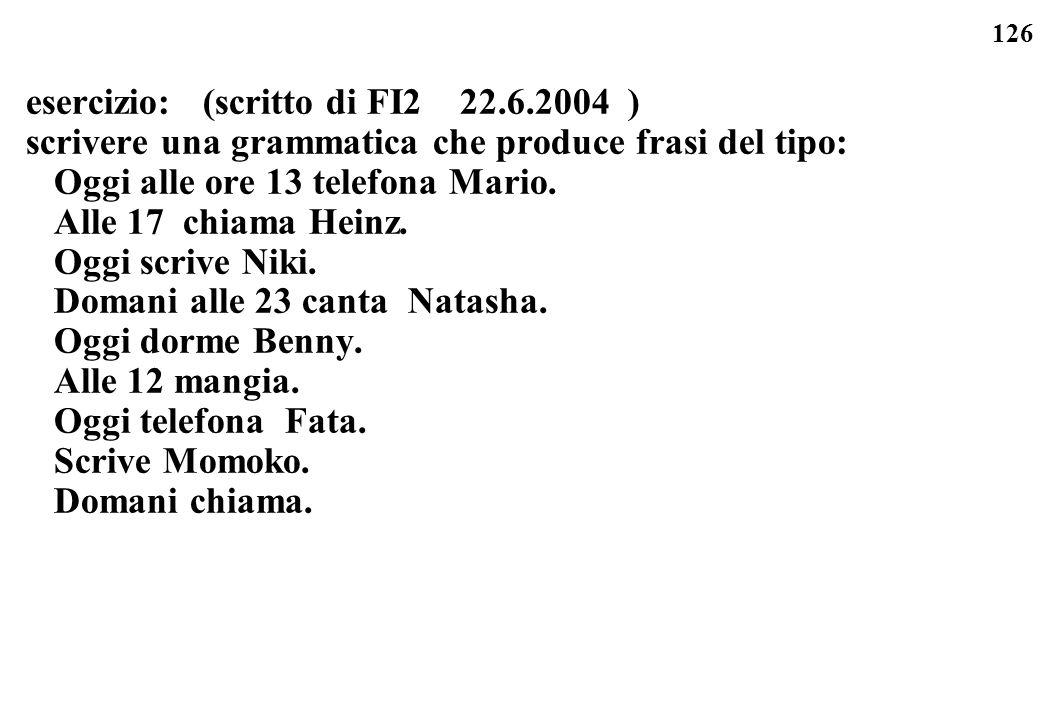 esercizio: (scritto di FI2 22.6.2004 )
