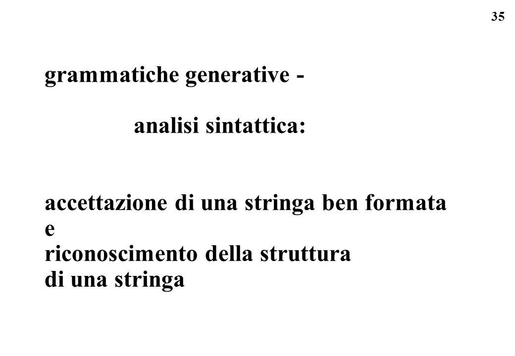grammatiche generative -