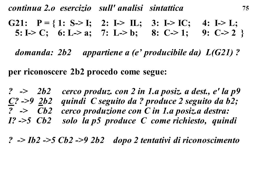 continua 2.o esercizio sull analisi sintattica