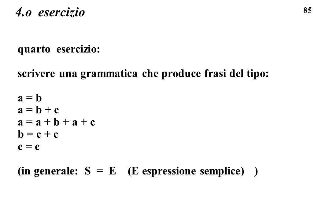 4.o esercizio quarto esercizio: