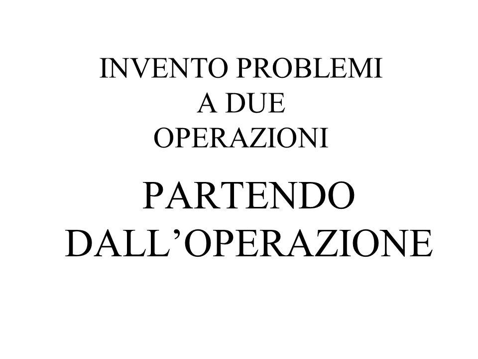 INVENTO PROBLEMI A DUE OPERAZIONI